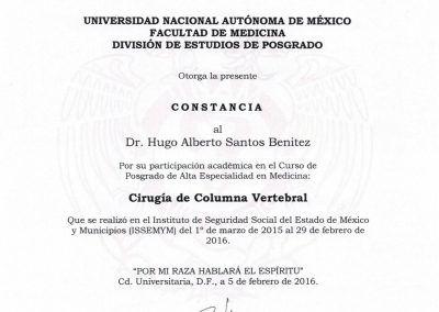 Certificado de la UNAM (Universidad Autónoma de México)