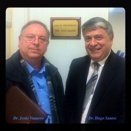 Dr Hugo Santos con Dr Vaquero Crespo