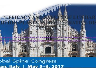 Efficacy and safety of Lumbar Arthroplasty in Degenerative Disc Disease
