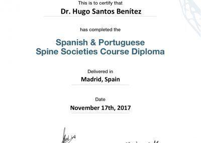 Iberian Diploma ( Spanish & Portuguese Spine Societies )