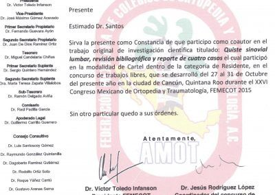 Certificado Femecot