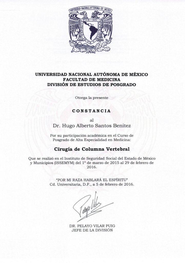 Certificado UNAM
