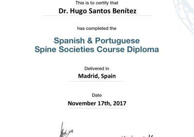 Iberian Diploma ( Spanish & Portuguese Spine Societies )